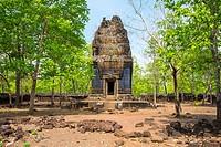 Prasat Neang Khmau at Koh Ker temple ruins, Preah Vihear Province, Cambodia.