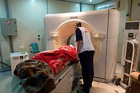 MRI-scanner in Sulaimaniya hospital, Iraq.