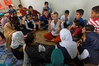 MSF mental health activities in Alwan refugee camp in Northern Iraq.
