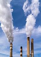 Tampa Electric Companys coal fired BIg Bend Power Station on Tampa Bay in Hillsborough County near Apollo Beach Florida.