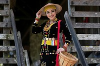 Miss World Harvest Photogenic in Sarawak Cultural Village, Damai, Sarawak, Malaysia.