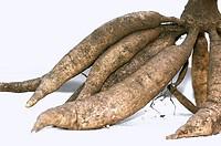 Few roots of sweet potato.