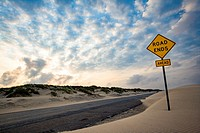 End of the Road - South Padre Island´s Park Road 100 - Texas, USA.
