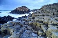 Coastal landscape of Giant´s Caudeway, Antrim county, Northern Ireland.