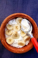 Greek Yogurt with Banana.