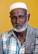 Ethiopia, Afar Region, Semera, portrait of an afar tribe elder.