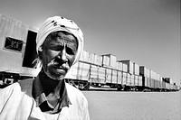 sudan, nubia, surrounding of karima. elderly man