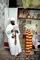 ethiopia, lalibela. local monk