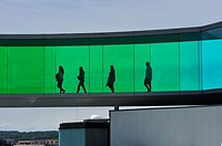 the installation ´´Your rainbow panorama´´, a circular skywalk with windows in the colors of the rainbow (by Olafur Eliasson, a Danish-Icelandic artis...