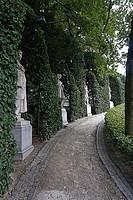 Statues at Le Petit Sablon Square, Brussels, Belgium, Europe.
