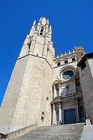 Sant Feliu or San Felix Church. City of Girona, Catalonia, Spain, Europe.