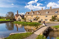 The Old Mill at Lower Slaughter, Gloucestershire, England, United Kingdom, Europe.