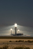 San Bernardino County, California - NRG Energy´s Ivanpah Solar Project, a solar thermal electric generating facility in the Mojave Desert. The project...