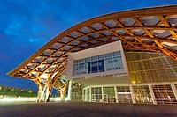 Centre Pompidou-Metz, Shigeru Ban and Jean De Gastines, Metz, Moselle, Lorraine region, France.