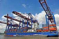 Port of Hamburg, Germany, Europe.