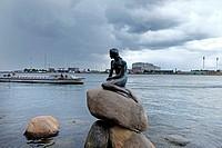 Denmark, Copenhagen, The little mermaid.