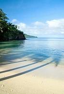 View from Qamea island, Fiji.