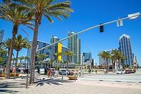 San Diego´s downtown Bayside area, California.