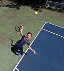 The tennis serve.
