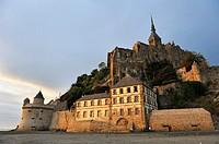 Mont-Saint-Michel bay, Manche department, Normandy region, France, Europe.