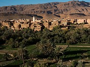 Residential structures in Dades Valley, Morocco.