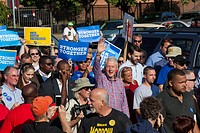 Detroit, Michigan - 5 September 2016 - Former President Bill Clinton marches in Detroit´s Labor Day parade, campaigning for his wife Hillary.