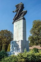 Monument of Gratitude to France designed by Ivan Mestrovic in Large Kalemegdan Park, Belgrade city, Serbia.