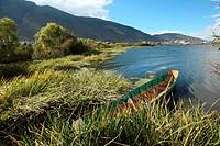 View of Lake Er-hai, Shaping, Dali, Yunnan, China