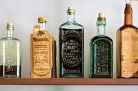 Hastings, Michigan - Medicines and tonics for sale at the general store in historic Charlton Park village, which displays early rural Michigan life. T...