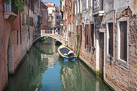 Street and bridge in Venice