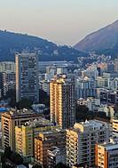 Brazil, City of Rio de Janeiro, Elevated view of the Botafogo Neighbourhood.