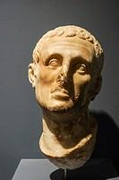 Male Head (1st Century AD). Ephes Museum. Classic Greek Collection. Asia Minor. Turkey.