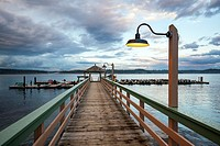 Dock at Painter's Lodge, Campbell River, Vancouver Island, British Columbia, Canada.