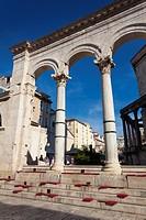 Historic city of Split, Diocletian Palace, Split, Dalmatia, Croatia.