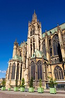 St-Etienne cathedral, Metz, Moselle, Lorraine region, France.