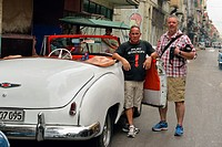 Driving through Havana in a rented 1950 Chevy convertible- driver 'Luis', La Habana (Havana), Habana, Cuba.