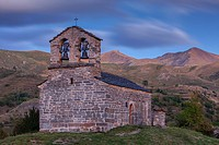 Sant Quirç hermitage. Romanesque chapel. Durro. Boí valley. Lleida province. Catalonia. Spain.