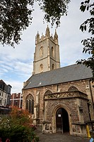 Church of St John the Baptist Cardiff city centre Wales United Kingdom.