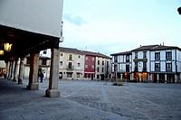 Main square of Covarrubias, Burgos, Spain.