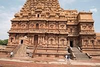 Niches and southern entrance, Brihadisvara Temple, Tanjore, Tamil Nadu, India. View from South.