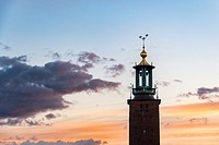 Stockholm, Sweden - A tower in Gamla Stan, otherwise called the Old City is one of the largest and best preserved medieval city centers in Europe and ...