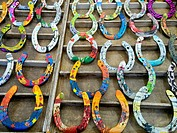 Decorative horseshoes for sale.