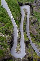 Trollstigen, National Tourist Route Geiranger - Trollstigen, Scandinavian, Norway.