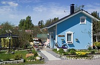 Litukka allotment garden cottages in Tampere Finland.