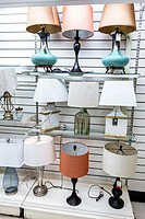 Florida, Miami, Home Goods, store, inside, lamps, sale, display,