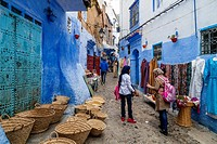 Street Life In The Medina, Chefchaouen, Morocco.