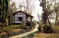 Gaida Wildlife Camp lodge, at Chitwan National Park, Nepal.
