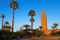 Minaret, Koutoubia Mosque, Marrakech, UNESCO World Heritage Site, Morocco, Maghreb, North Africa.