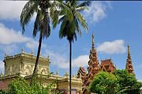 Myanmar, Mon State, Go Nut village, Cheerful schoolgirls.