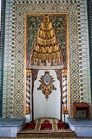 Gazi Orhan Mosque (1339) early Ottoman style by architect Orhan Bey. Bursa. Turkey.